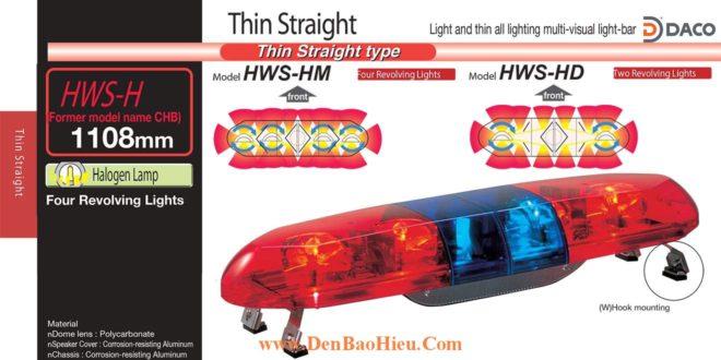 Đèn báo hiệu xe cảnh sát, cứu thương Patlite 1108mm: HWS-12HM