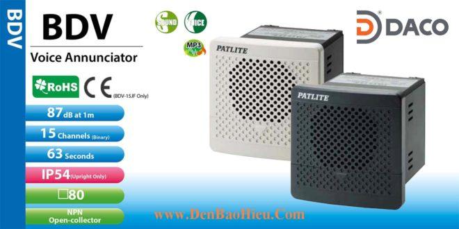BDV-15KF-J Loa báo hiệu MP3 Patlite 15 âm MP3 87dB 110/220VAC IP54