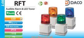 RFT-24D-R Đèn quay có loa Patlite Φ100 Bóng LED 32 âm 90dB IP54