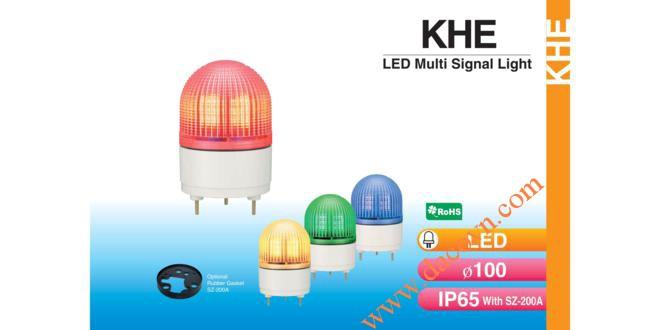 Đèn báo hiệu cảnh báo tín hiệu Patlite Φ100, LED, chống rung, IP65, KHE