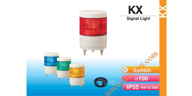 Đèn báo hiệu tín hiệu Patlite Φ100, bóng Xenon, chống rung, IP55, KX