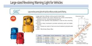 Đèn quay Patlite dùng cho xe SKC-201A, Φ187, bóng Sợi đốt, 12VDC