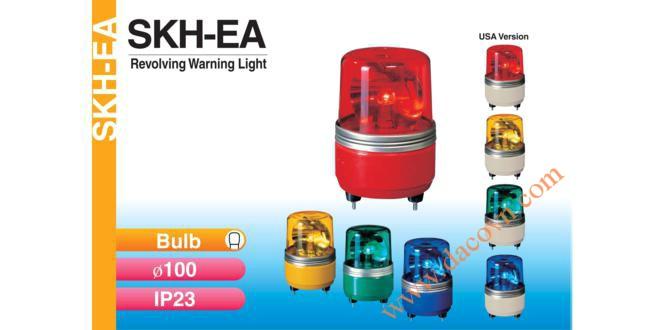 Đèn quay báo hiệu Patlite Φ100, bóng sợi đốt, chống rung, IP23, phản xạ parabol, SKH-EA