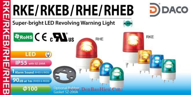 RHE-12-B+SZ-200A Đèn báo quay Patlite Φ100 Bóng LED IP23, IP55