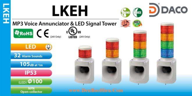 LKEH-302FE-RYG Đèn tháp có loa Patlite 3 Tầng Φ100 Bóng LED 32 âm 105dB IP53