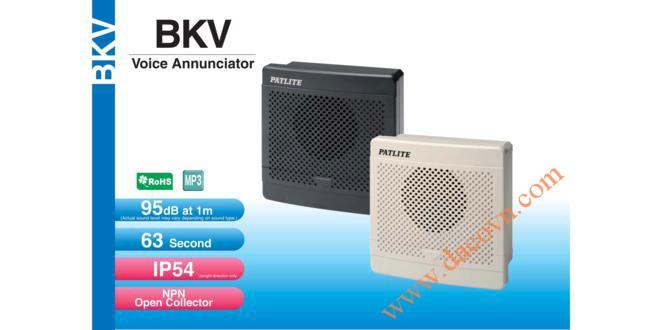 Loa Còi báo hiệu MP3 Patlite, còi buzzer 32 âm báo 95dB, vuông 80mm, IP54, BKV