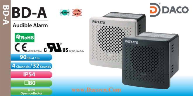 BD-100AC-K Loa Còi báo Patlite gắn tủ điện 4 kênh, 32 âm 90dB IP54