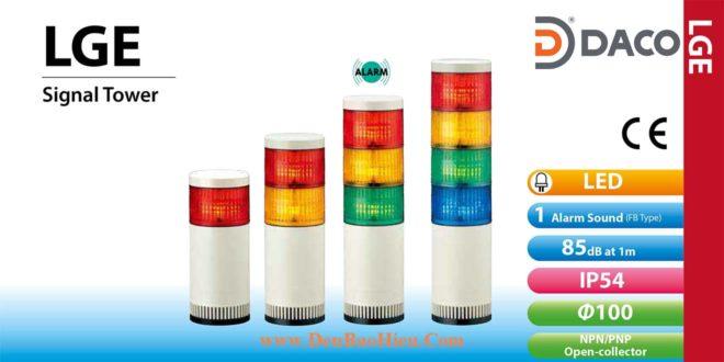 LGE-402-RYGB Đèn tháp báo hiệu Patlite Φ100 Bóng LED 4 tầng IP54