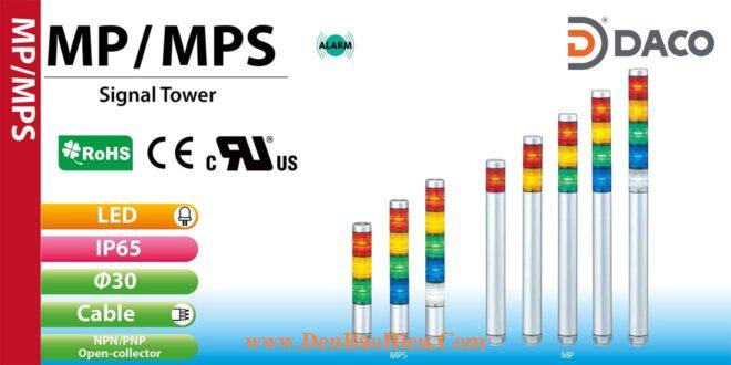 MP-202C-YG Đèn báo hiệu tháp Patlite Φ30 Bóng LED 2 tầng IP65