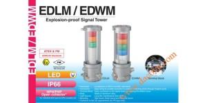 Den thap tang bao hieu tin hieu canh bao Patlite EDLM-EDWM, Đèn tháp báo hiệu chống cháy nổ Patlite LED Φ140 IP66 EDLM / EDWM