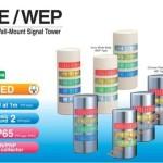 Den thap tang bao hieu tin hieu canh bao Patlite WE-WEP, Đèn tháp báo hiệu Patlite hình bán nguyệt LED Φ90 còi 90dB nhấp nháy WE/WEP