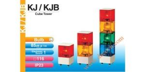 Den thap tang bao hieu tin hieu canh bao Patlite vuông KJ-KJB, Đèn tháp báo hiệu Patlite vuông 116mm, bóng sợi đốt còi 85dB nhấp nháy KJ/KJB