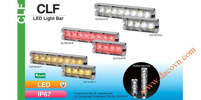 Đèn LED chiếu sáng dạng thanh Patlite CLF20 chống chịu dung môi hóa chất, dầu, nước, IP67, 24VDC