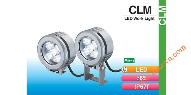 Đèn LED chiếu sáng dạng tròn Φ85 Patlite CLM-24 chống chịu dung môi hóa chất, dầu, nước, IP67, 24VDC