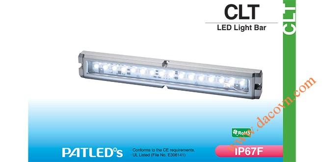Đèn LED chiếu sáng dạng thanh Patlite CLT30 chống chịu dung môi hóa chất, dầu, nước, IP67F, 24VDC