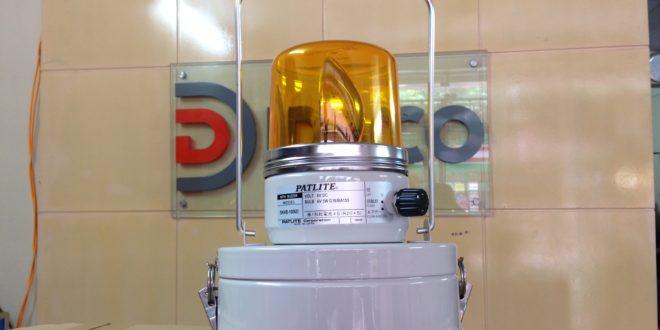 Đèn quay xoay báo hiệu Patlite sử dụng Pin SKHB-1006D có còi báo-Mở Hộp