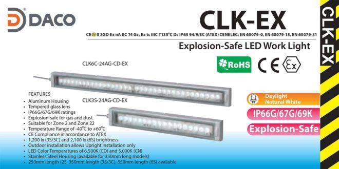 Đèn LED chiếu sáng Phòng nổ dạng thanh Patlite CLK-Ex IP66G/67G/69K, 24VDC