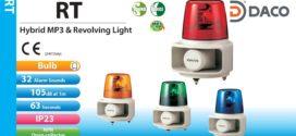 RT-24VF-R Đèn quay có loa Patlite Φ162 Bóng Sợi đốt 32 âm mp3 63sec 105dB IP23, IP65