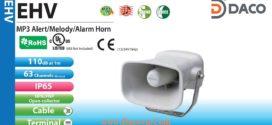 EHV-M2TG Loa báo hiệu Patlite 63 âm 110dB, ghi âm MP3 IP65