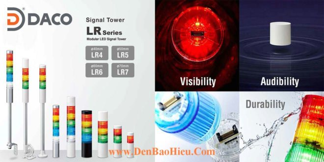 LR4-Đèn tháp Patlite Bóng LED Φ40 IP65 Ghép Module LR4