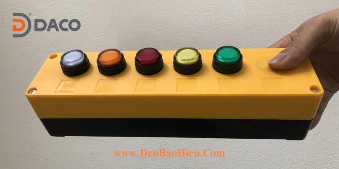 Hộp Nút Nhấn 1-2-3-4-5 Màu Xanh Đỏ Vàng Cam Trắng