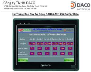 He thong Bao Chuong Tu Dong DABAS-MF- HMI- Cai Dat Su Kien