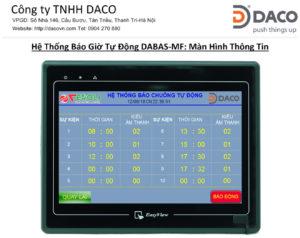He thong Bao Chuong Tu Dong DABAS-MF- HMI - Man Hinh Thong Tin