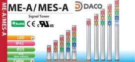 MES-102A-R Đèn báo hiệu tháp Patlite Φ25 Bóng LED 1 tầng IP65