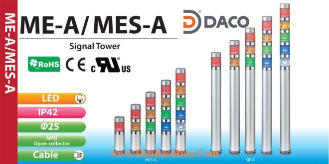 ME-502A-RYGBC Đèn tháp báo hiệu Patlite Φ25 Bóng LED 5 tầng IP65