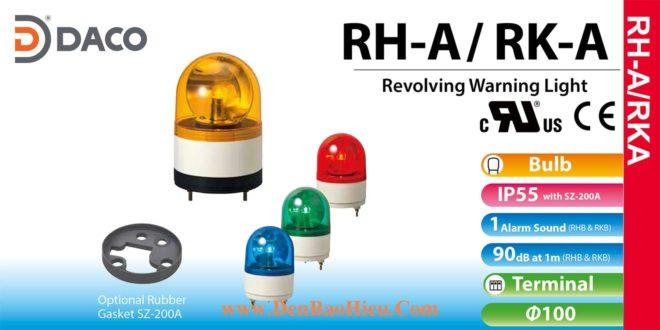 RH-100A-R Đèn quay Patlite Φ100 Bóng Sợi đốt IP23