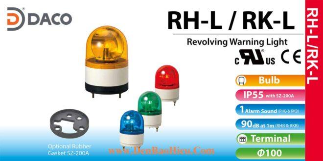 RH-230L-R Đèn quay Patlite Φ100 Bóng Sợi đốt IP23, IP55