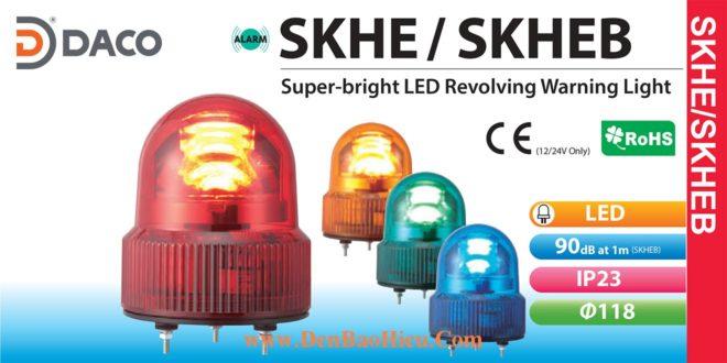SKHEB-200-R Đèn quay Patlite báo có còi Buzzer 90dB Φ118 Bóng LED IP23