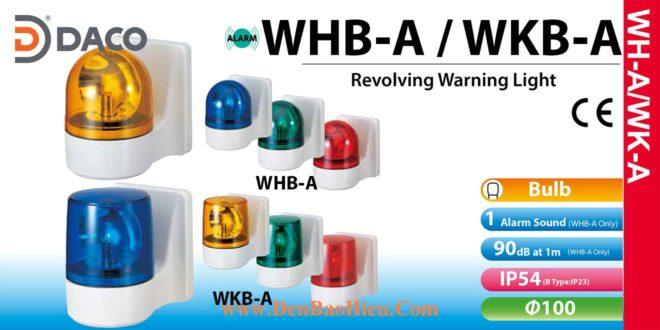 WKB-200A-R Đèn quay gắn tường Patlite Buzzer 90dB Φ100 Bóng Sợi đốt IP23