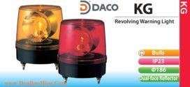 KG-100-R Đèn quay báo hiệu Patlite phản xạ kép Φ186 Bóng Sợi đốt IP23