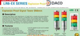 LR6-502NJNU-RYGBC-EX Đèn tháp phòng nổ Patlite Φ60 Bóng LED 5 tầng IP65, Zone 2