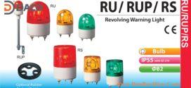 RU-24AC-R Đèn quay Patlite Φ82 Bóng Sợi đốt IP23, IP55