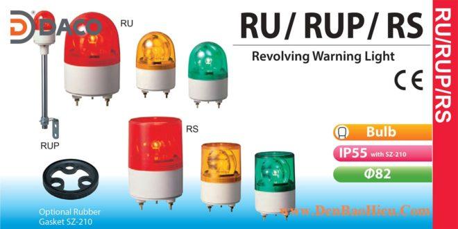 RU-220-R Đèn quay Patlite Φ82 Bóng Sợi đốt IP23, IP55