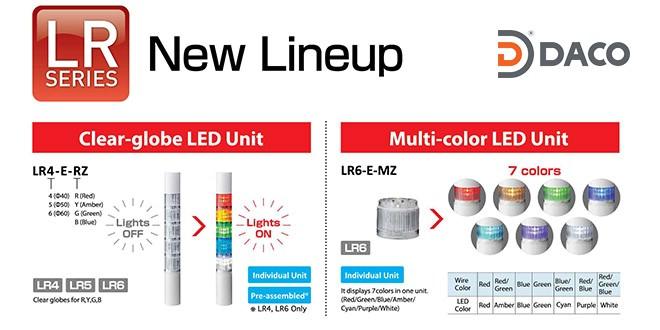 LR7-E-MZ Module tầng 7 màu đèn tháp Patlite Φ70 IP65