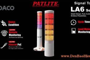 LA6-5DSNWB-POE Đèn tháp LAN POE báo hiệu Patlite Φ60 Bóng LED 5 tầng Còi 11 âm báo IP20