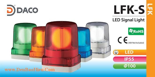 LFK-12S-R Đèn báo hiệu cho xe Patlite Φ100 Bóng LED IP55