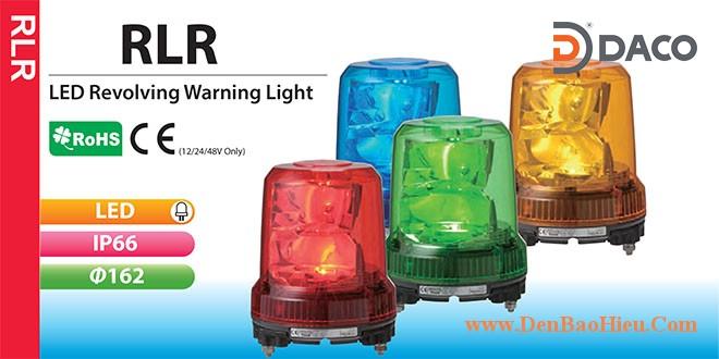 RLR-M2-P-R Đèn quay phản xạ hắt chống rung Patlite Φ162 Bóng LED IP66